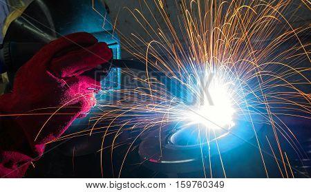 engineering. electric welding machine parts industry .
