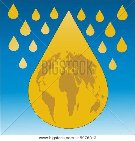 oil world concept