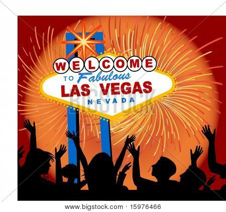 welcome to las vegas sign  - people one unit