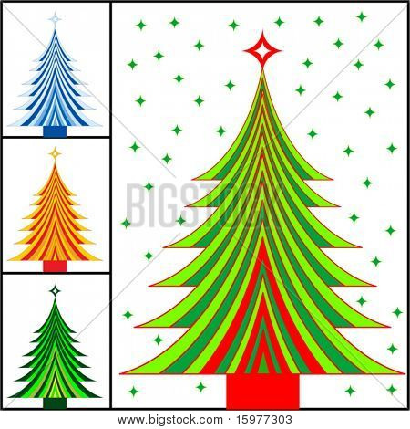 striped christmas tree color choices