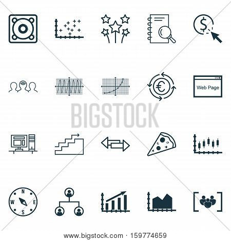 Set Of 20 Universal Editable Icons. Can Be Used For Web, Mobile And App Design. Includes Elements Such As Computer, Growth, Festive Fireworks And More.