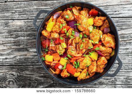 Sweet And Sour Crispy Fried Pork Pieces