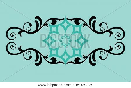 filigree banner - use with or with out center flower