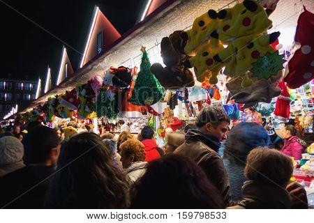 Christmas Market Plaza Mayor Madrid