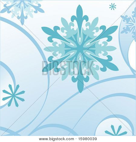 blue decorative snowflake