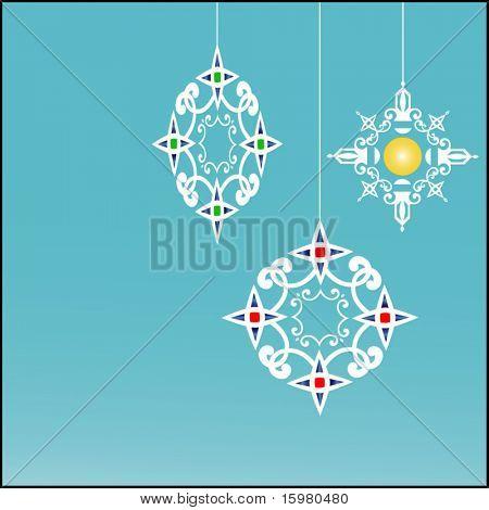 organic snowflake baubles