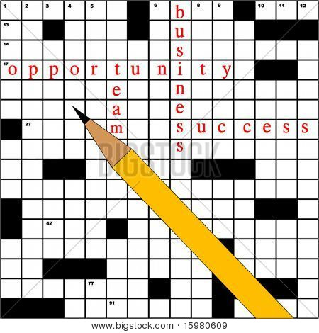 crossword with business terms (move black squares  words etc- as you wish)