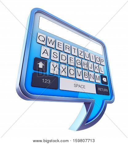 3D rendering of a text messages concept