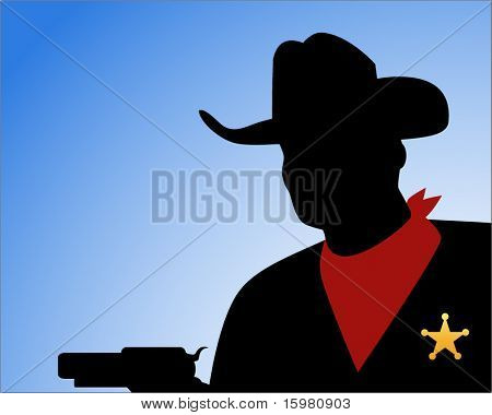 sheriff silhouette (full gun hidden behind sheriff for other uses)