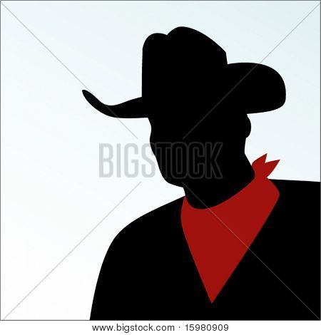 Cowboy with handkerchief around neck