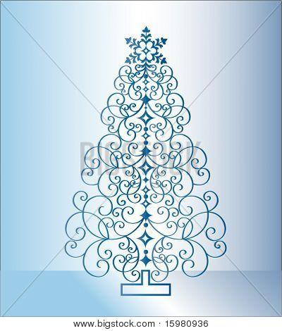 árbol de Navidad azul 2
