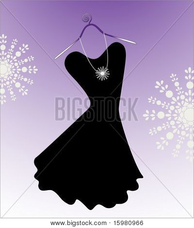 classic little black strapless dress on hanger