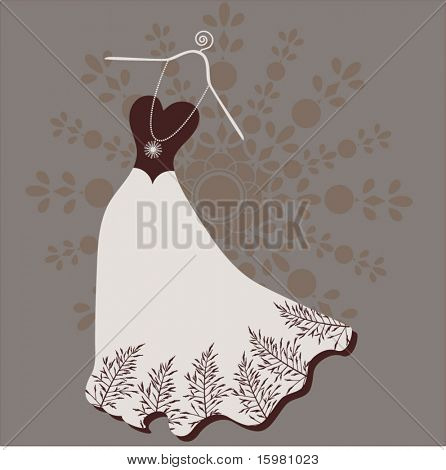 Long gown on hanger
