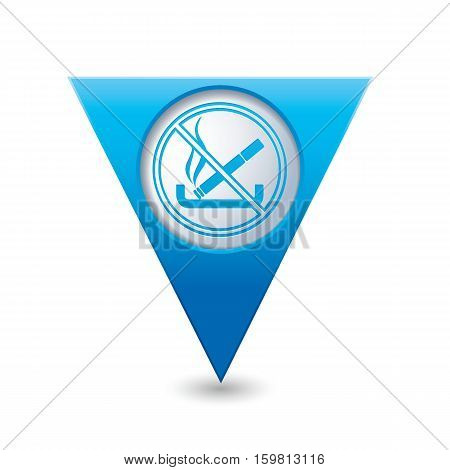 Blue map pointer with no smoking sign