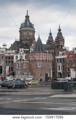December 22 2013, Amstrdam. St. Nicolas church dome in Amsterdam the Netherlands.