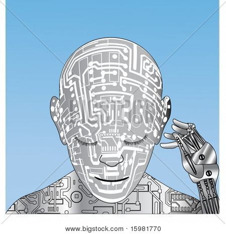 Robot with hand