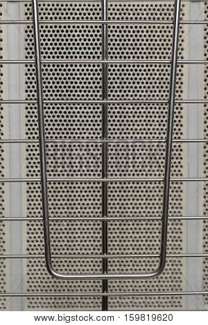 lattice fence gas heater system, top view