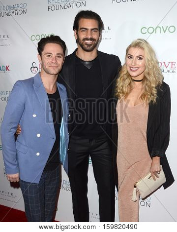 LOS ANGELES - NOV 30:  Sasha Farber, Nyle DiMarco, Emma Slater at the Nyle DiMarco Foundation Love & Language Kickoff Campaign 2016 at Sofitel Hotel on November 30, 2016 in Beverly Hills, CA