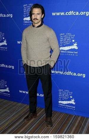 LOS ANGELES - DEC 1:  Milo Ventimiglia at the Children's Defense Fund - 26th Beat The Odds Awards at Beverly Wilshire Hotel on December 1, 2016 in Beverly Hills, CA