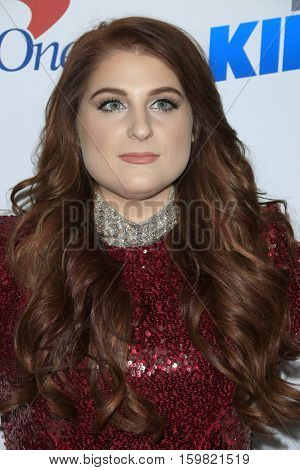 LOS ANGELES - DEC 2:  Meghan Trainor at the 102.7KIIS FM's Jingle Ball 2016 at Staples Center on December 2, 2016 in Los Angeles, CA