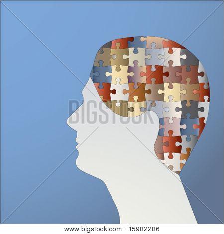 male profile puzzle