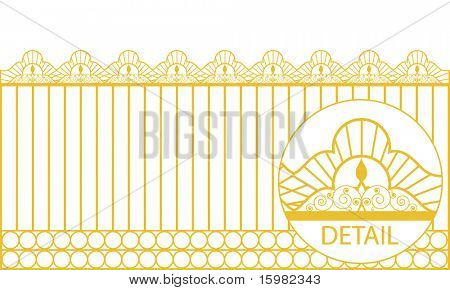 decorative fence (use with or without circles at bottom )