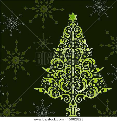 beautiful stylized christmas tree