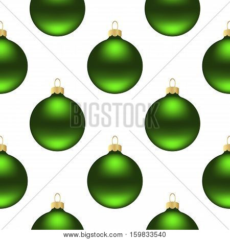 Seamless pattern of christmas balls on white background