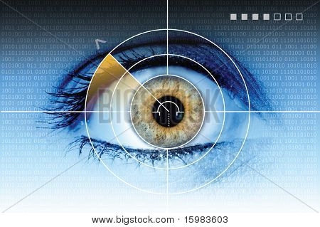 Technologie-Auge-Scan-radar
