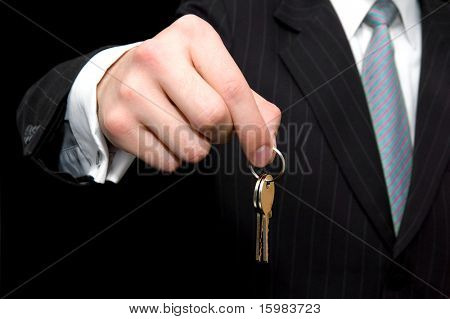 Businessman -  real estate concept