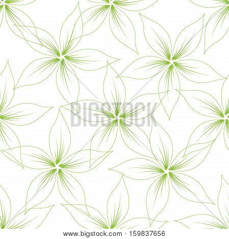 Floral seamless pattern on white background. Vector illustration