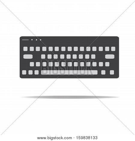 Keyboard icon in trendy flat style. Keyboard sign.