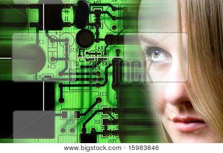technology woman