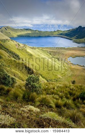 Mojanda lakes in Ecuador