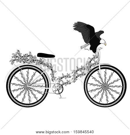 fantasy abstract bicycle  on a white background