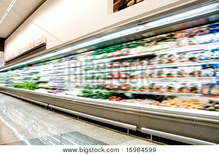 Supermarkt-Interieur