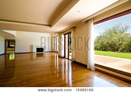 Empty big living room