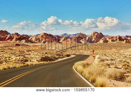 Valley Of The Fire National Park In Nevada, Usa