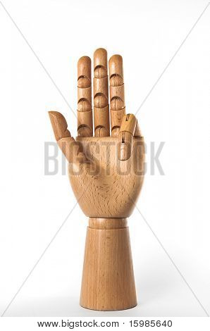 Wooden hand series: number three