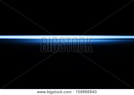 Horizontal blue blast beam illustration background hd