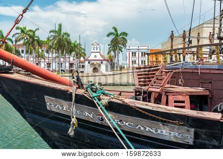 Pirate Style Ship In Cartagena