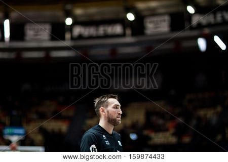 VALENCIA, SPAIN - DECEMBER 3: Axel Hervelle during spanish league match between Valencia Basket and Bilbao Basket at Fonteta Stadium on December 3, 2016 in Valencia, Spain