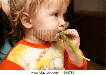 Boy With Leek