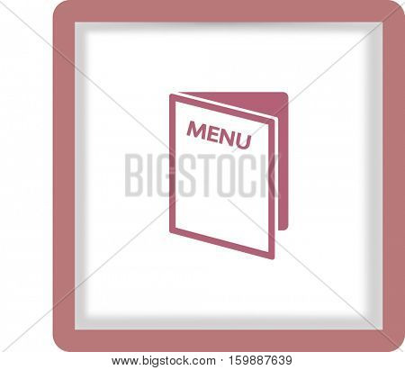 Flat icon. Restaurant menu.