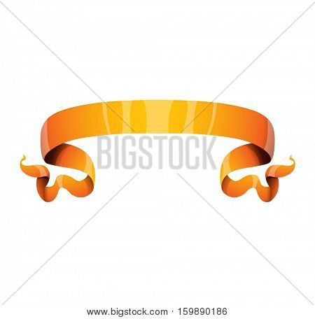 Golden ribbon vector illustration