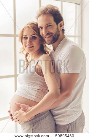 Happy Couple Waiting For Baby