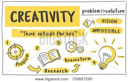 Fresh Ideas Inspire Creativity Concept