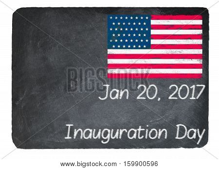 Inauguration Day Concept Using Chalk On Slate Blackboard