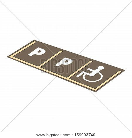 Disabled parking icon. Cartoon illustration of disabled parking vector icon for web design