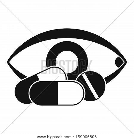 Treatment of the eye icon. Simple illustration of treatment of the eye vector icon for web